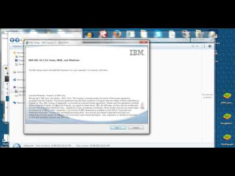 Install IBM db2 express database server C (v10.5) in Windows 7