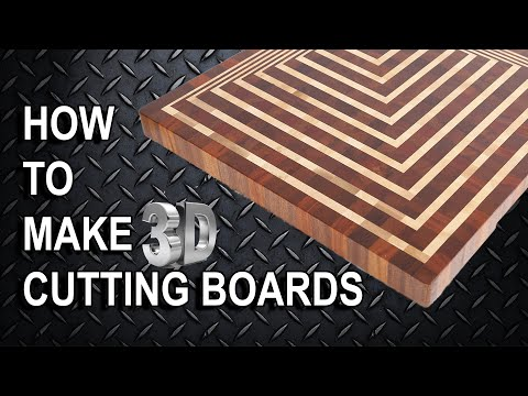 making d end grain cutting board, Kitchen design
