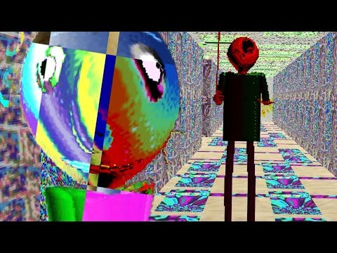 WHAT HAPPENS WHEN BALDIS GETS CORRUPTED.. | Baldis Basics in Education and Learning Corrupt Textures