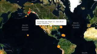 Earthquakes Strike Off Maryland Coast, Tennessee, Kansas and California