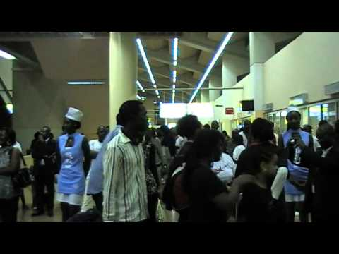 Ancestry Reconnection Program Cameroon 2011. Arrival at Yaounde Nsimalen Airport.