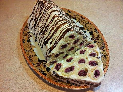 Монастырская изба. Торт с вишней. cake with cherries