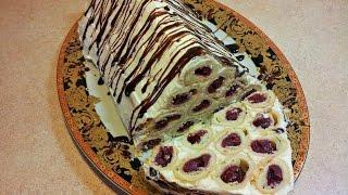 Монастырская изба. Торт с вишней. cake with cherries(Давно забытый рецепт. Раньше моя мамочка очень часто его готовила, но потом почему то забыли. Вот мой братиш..., 2015-01-16T14:43:27.000Z)