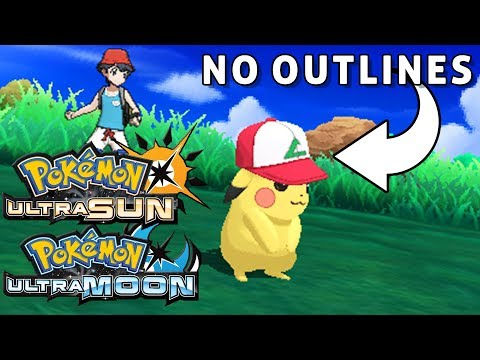 Pokemon Ultra Sun and Moon NO OUTLINES Patch! (Luma CFW)