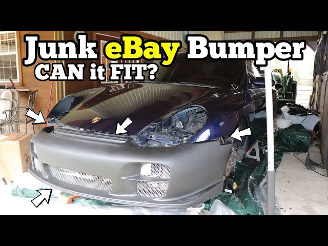 I Bought an eBay GT2 Bumper & Replica Turbo Wheels for the Salvage Porsche 911! Will they even fit?