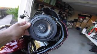 2017 Harley Davidson M8 stock speaker swap out!