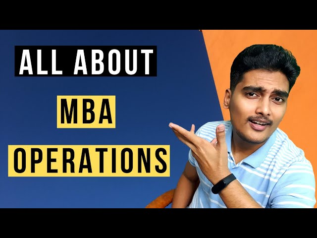 💡How is MBA in Operations Management? Job Roles, Certifications, Career Path,Supply Chain Management