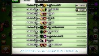 Clash of Clans // Clan War: AZERBAYCAN vs Smash n Crash