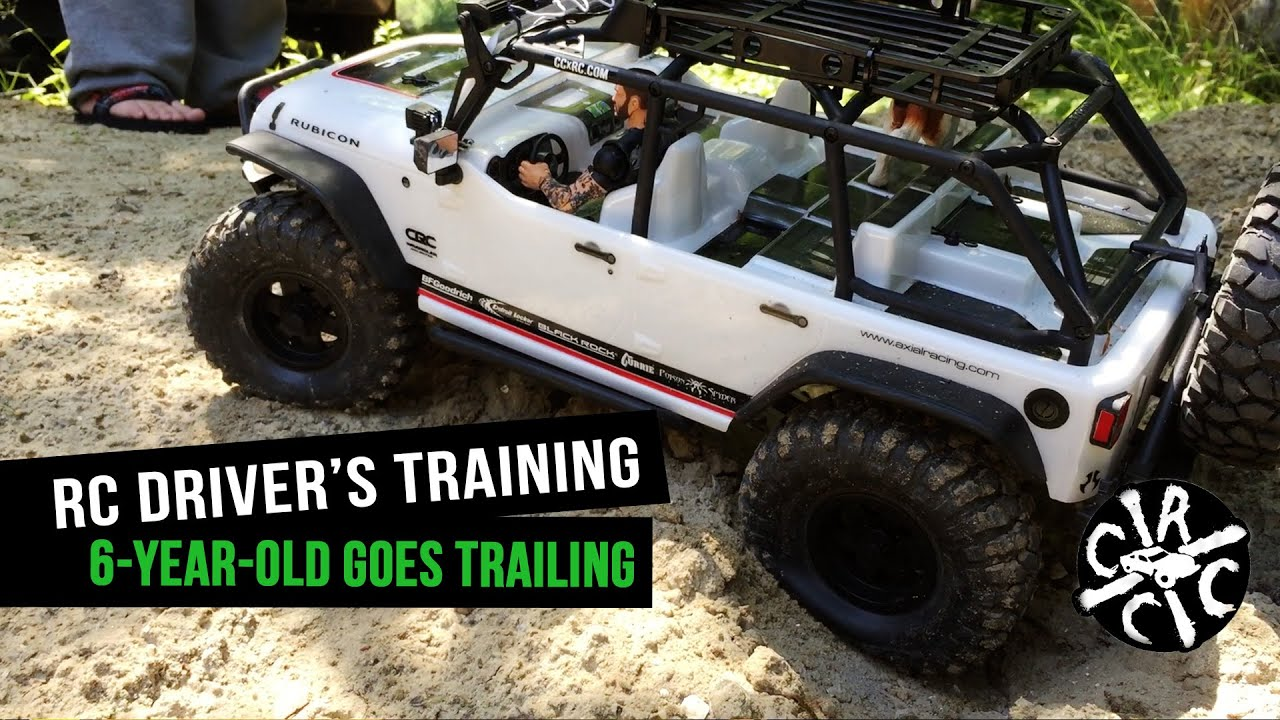 RC Driver\'s Training: Teaching My 6-Year-Old How To Trail Ride - YouTube