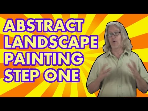 Abstract Landscape Painting Step 1