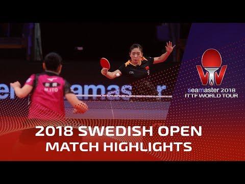 Liu Shiwen vs Mima Ito   2018 ITTF Swedish Open Highlights (1/4)