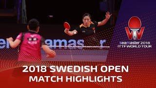 Liu Shiwen vs Mima Ito | 2018 ITTF Swedish Open Highlights (1/4)