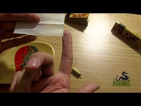 OCB Organic Hemp Papers - rolled inverted 'dutch' style with a card