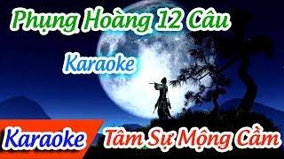 Phụng Hoàng 12 Câu Karaoke | Karaoke Phụng Hoàng 12 Câu | Tâm Sự Mộng Cầm ✔