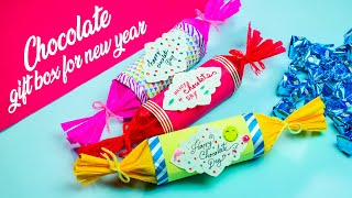 Beautiful Handmade Happy New Year 2020 Chocolate Gift Box DIY Gift box for New Year