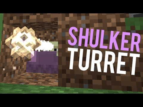 Fully Automatic, Compact And Cheap Shulker Turret! - Minecraft Tutorial