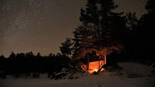 Solo Winter Camping -16°C , Bushwacking, N๐ Tent, Ice and Snow