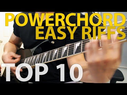10 Easy Riffs with Power Chords
