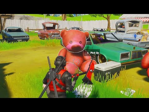 [Easy Challenge] Carry A Giant Pink Teddy Bear Found In Risky Reels 100 Meters In Fortnite