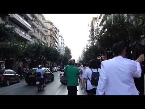 """Mischa Kuball """"Public Square"""". 16. 09. 2015, Thessaloniki"""