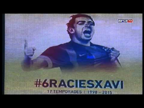 Camp Nou says goodbye to Xavi