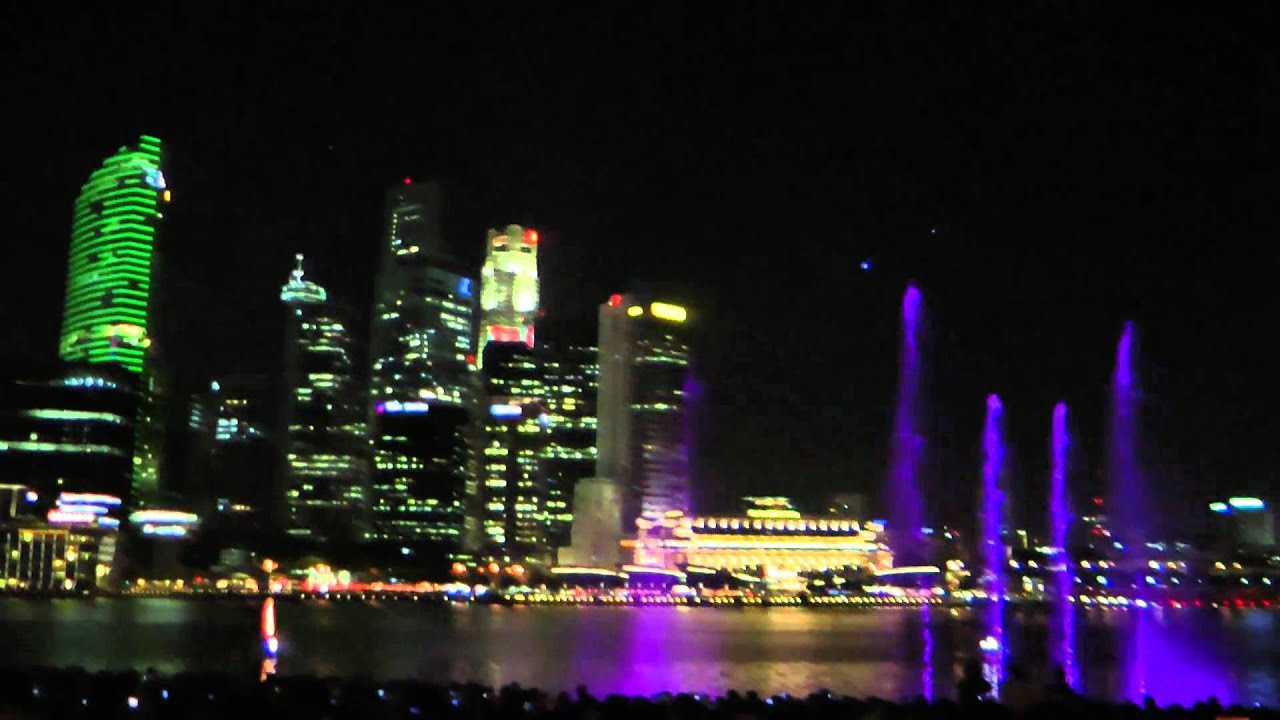 Light And Water Show Marina Bay Sands Singapore Opening