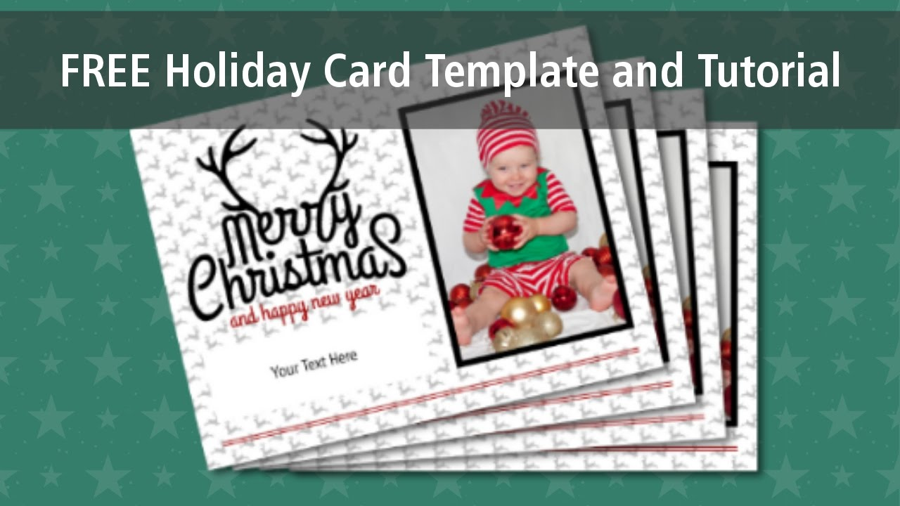 how to use the free holiday card template - Free Holiday Card Templates