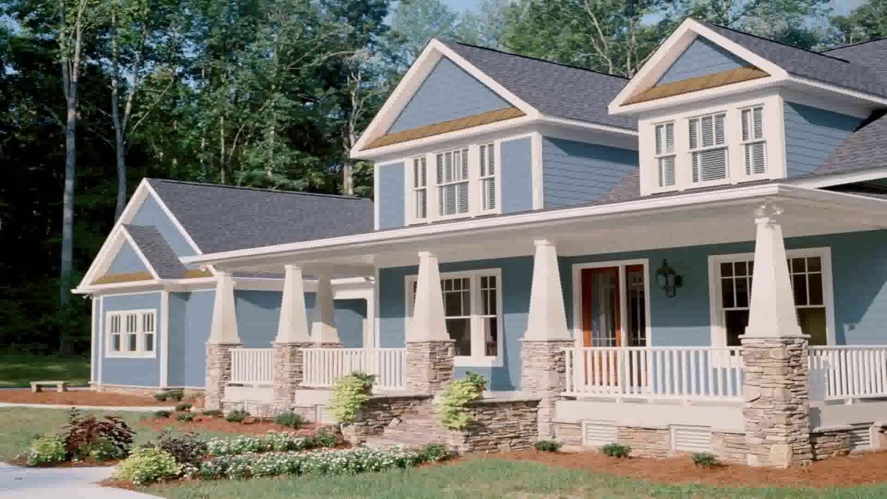 Craftsman style brick house youtube for Craftsman vs mission style