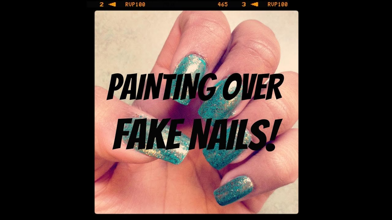 Painting Over Fake Nails | FunWithNayala - YouTube