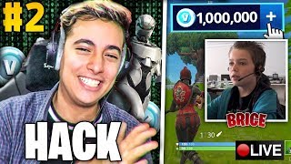 """I """"re-HACK"""" the FORTNITE account of these STREAMERS live, it goes wrong. (EpicReaction) #2"""