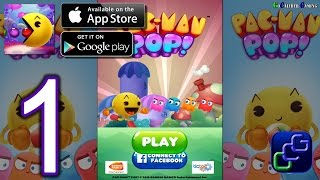 PAC-MAN Pop - Bubble Shooter Android iOS Walkthrough - Gameplay Part 1 -