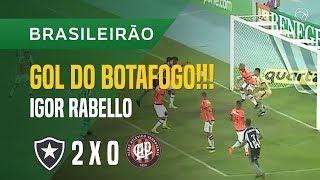 GOL (IGOR RABELLO) - BOTAFOGO X ATLÉTICO-PR - 13/06 - BRASILEIRÃO 2018