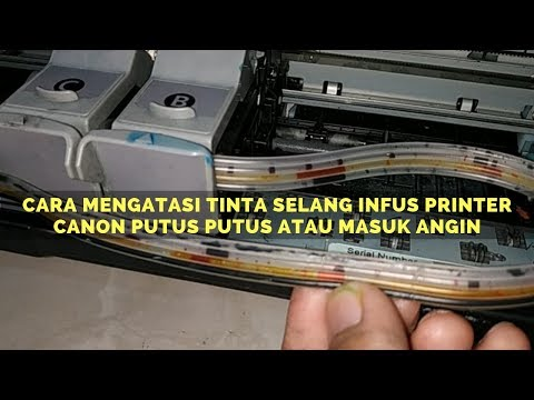 Cara Mengisi Ulang Menyuntik Tinta Cartridge Printer Canon IP2770 MP280 MP237 MP250.