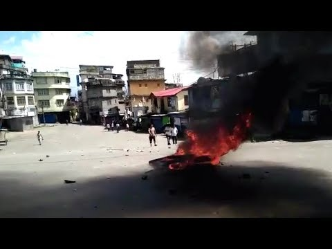 Kalimpong Exclusive Footage From Situation Tensed After Police Laathi Charge And Tear Gas Firing