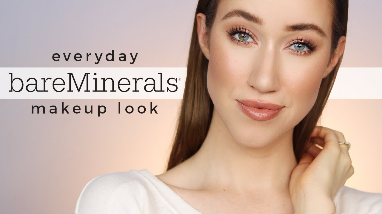 5746f571224 Everyday bareMinerals One Brand Makeup Tutorial 💕 - YouTube