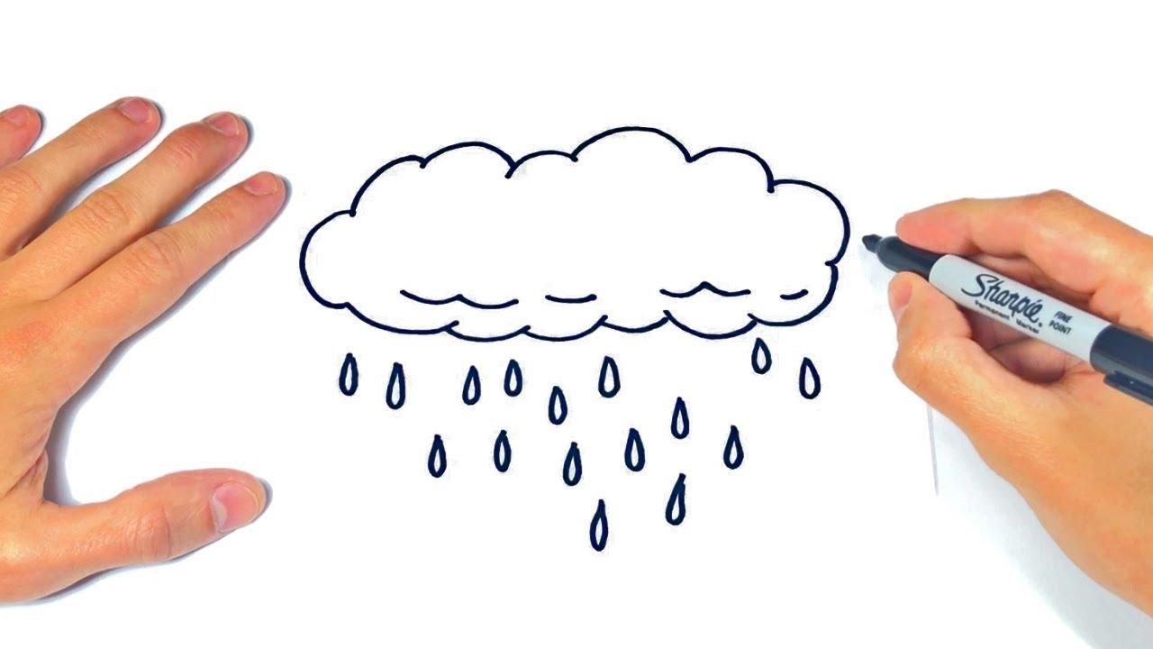 Cómo dibujar La Lluvia Paso a Paso Dibujo de Nube con