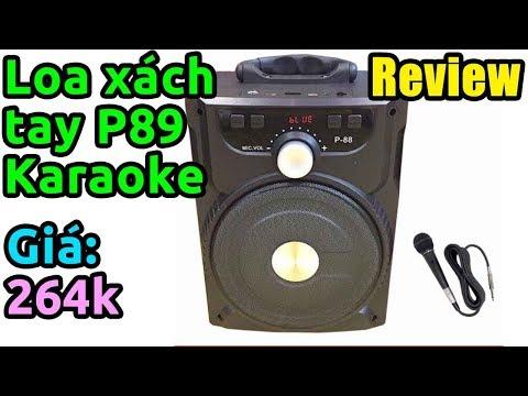 Trên tay loa Bluetooth Karaoke xách tay P89 kèm Micro cực chất, KTheme đi hát rong