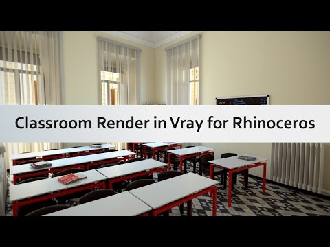 Classroom render in Vray for Rhinoceros
