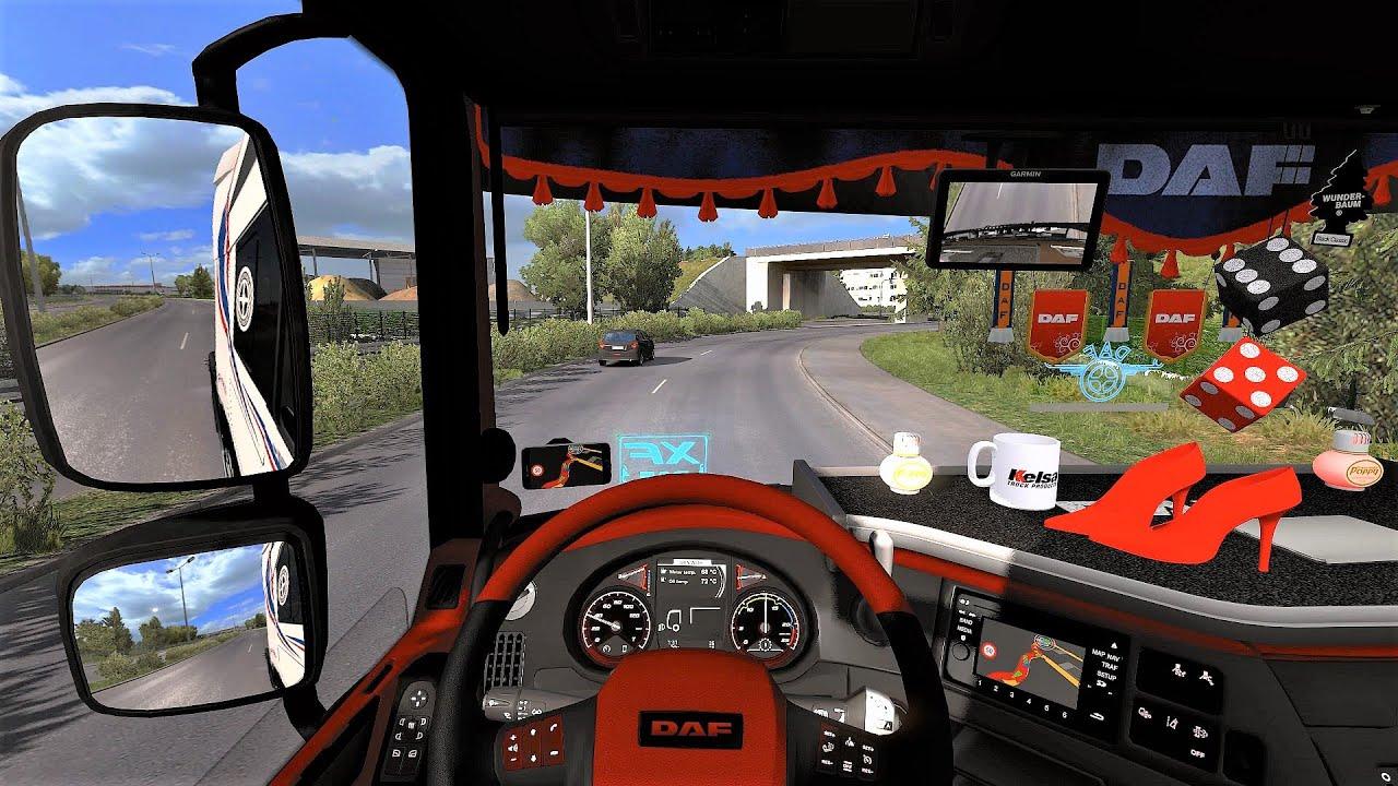 Euro Truck Simulator 2 (v1.38) - Daf XF Euro6 Tuning + Open Pipe Sound + Skin + Interior [Chereau]