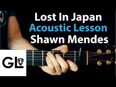 Lost In Japan - Shawn Mendes: Acoustic Guitar Lesson/Tutorial 🎸How To Play Chords/Rhythms