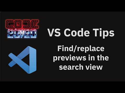 Find/replace previews in the search view