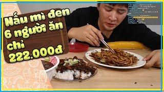Cách làm Mì Tương Đen 6 người ăn chỉ với 222.000đ | Mì Đen Hàn Quốc làm như thế nào ?