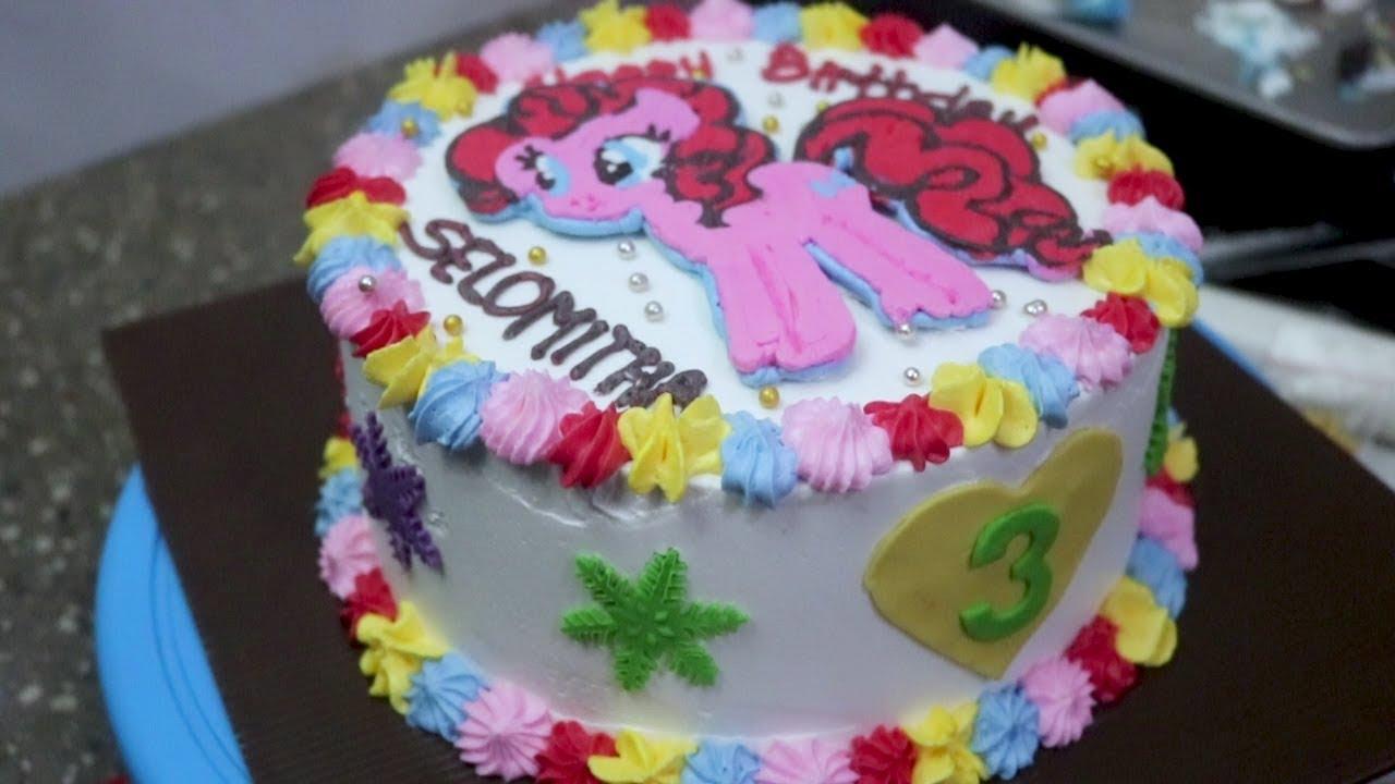 Kue Ultah Kuda Poni Menggunakan Buttercream Transfer