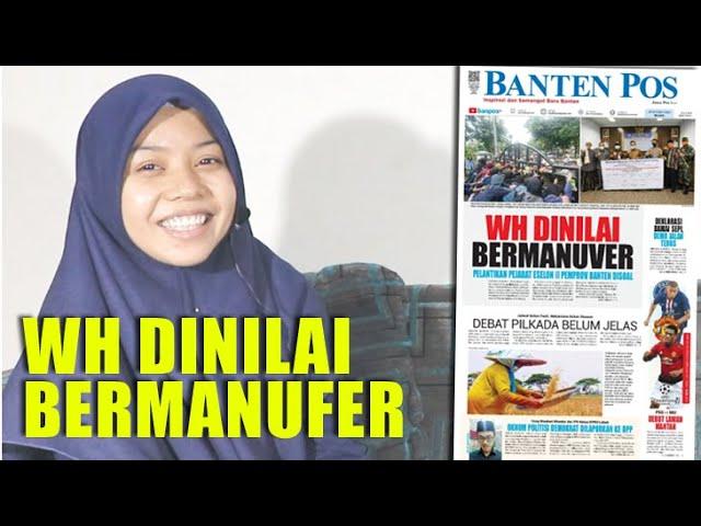 WH DINILAI BERMANUFER || DEKLARASI DAMAI SEPI, DEMO JALAN TERUS || BANTEN HARI INI 20/10/2020