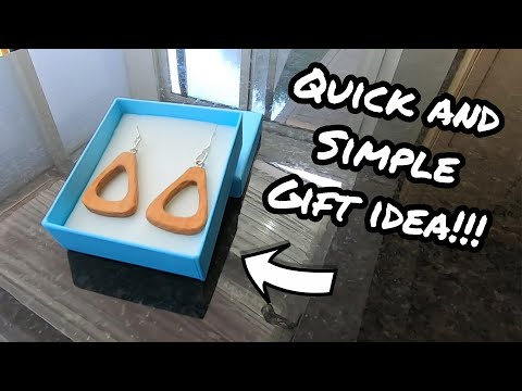 Rustic Wooden Earrings - Quick Gift Idea (DIY)