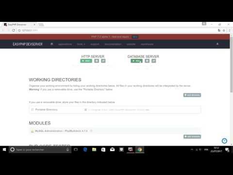 Activation HTTP Server & DBserver Sur Easyphp 17
