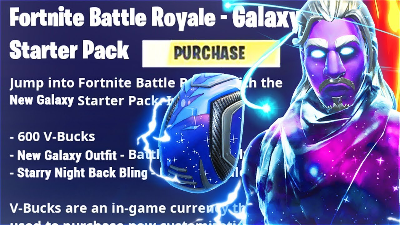 Unlock The NEW Starter Pack In Fortnite Battle Royale! (Fortnite FREE Galaxy Starter Pack Skins)