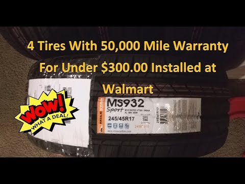 Tire Review - MS932 SPORT -  Under $300.00 Installed From Walmart