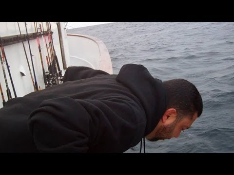 Seasick man gets worse w/ mention of mayonnaise & bacon sandwich