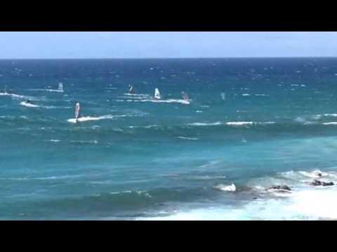 Paia, Maui Wind Surfers & Kite Surfers